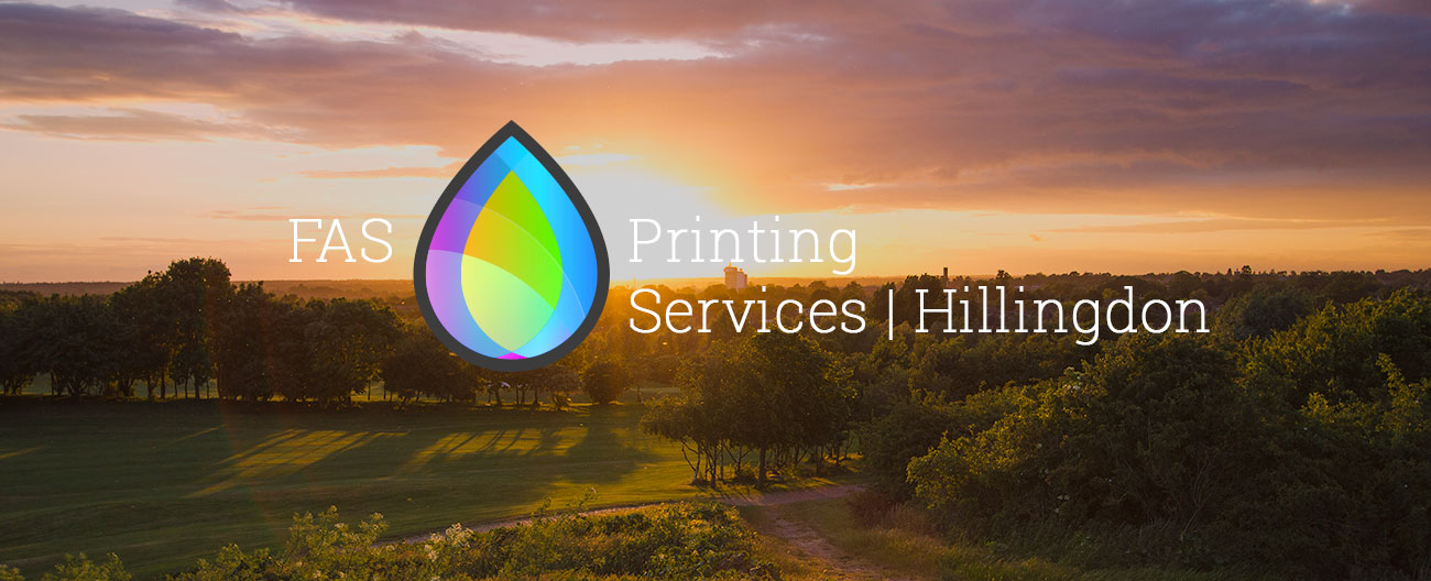 print services hillingdon - FAS - against sunset in stockley park