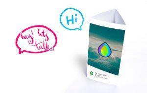 Table Talkers - speech bubbles - hey let's talk. Hi!