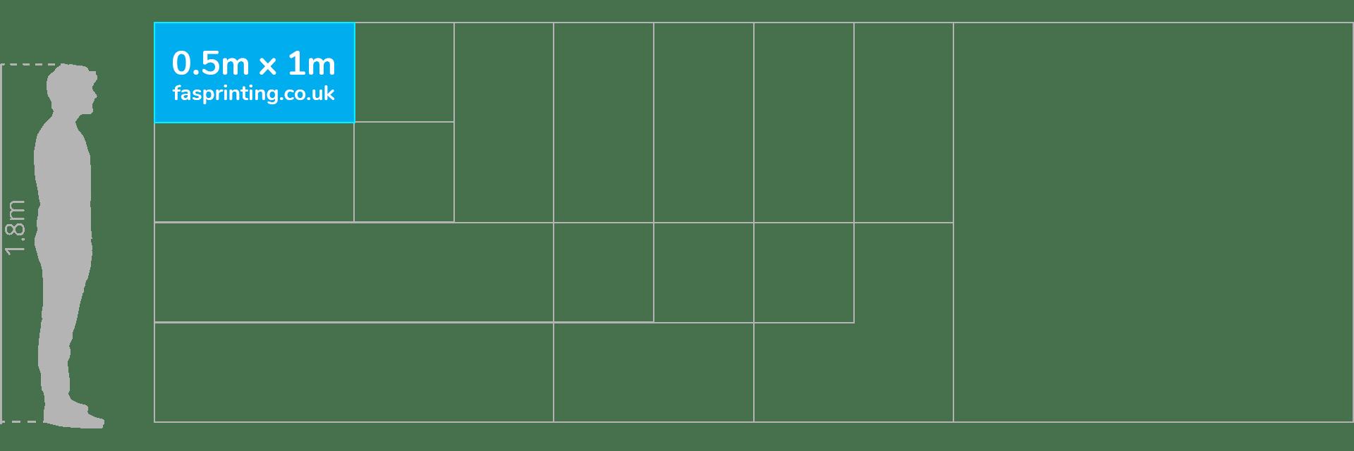 0.5 x 1m Banner