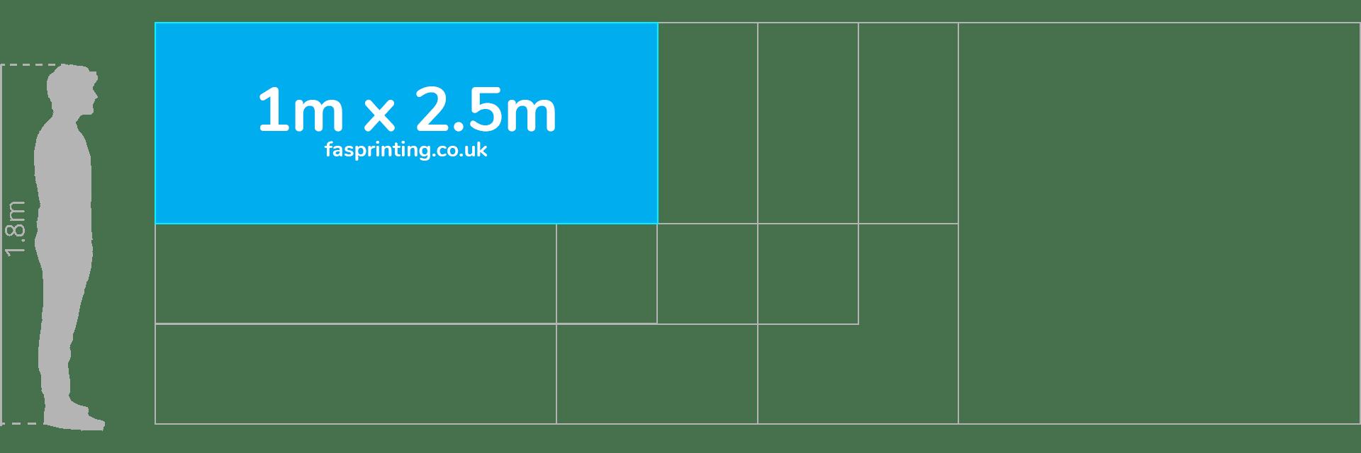 1m x 2.5m Banner