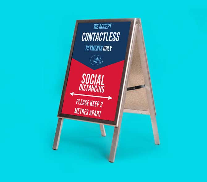 a frame - COVID-19 social distancing and contactless payments